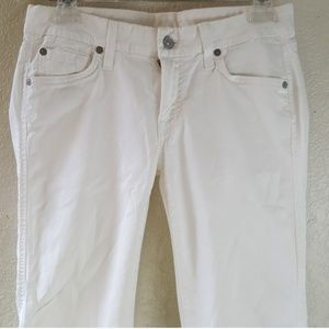 Seven for all Mankind White flare leg jean Size 28
